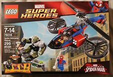 Lego 76016 SPIDER-HELICOPTER RESCUE ~ Marvel Super heroes ~ 299 Pieces NIB