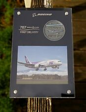 Boeing 787 DreamLiner First Delivery ANA We Fly 1st Coin Photo Paperweight Award