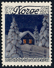 NORWAY 1912 Christmas Seal (NKS 7.I) P. W. Johannsen, artist - Mint Never Hinged