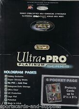 """50 ULTRA PRO 6 POCKET PAGE 2-1/2 x 5-1/4"""" COUPON SLEEVE"""