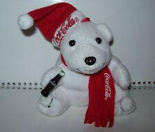 COCA-COLA EISBÄR Plüsch Stofftier Roter Schal Feiertage Weihnachten