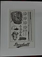 Échantillon Baseball Classique Cadeau Litho Art Imprimer image matériel vintage pour 11x14