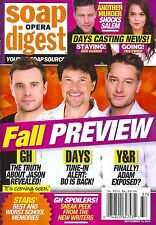 Billy Miller, Peter Reckell, Justin Hartley - Sept. 14, 2015 Soap Opera Digest
