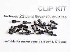 22 NEW ROCKER TRIM CLIPS Land Rover Discovery Range Classic RRC DOOR SILL 79086L