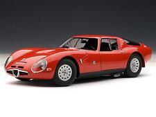 Alfa Romeo Giulia Tz2 1965 Rosso Autoart 1:18 Aa70198 Modellino Auto Diecast