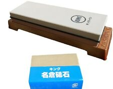 Japanese whetstone water stone sharpening stone King KW-65 #1000/6000 w/nagura