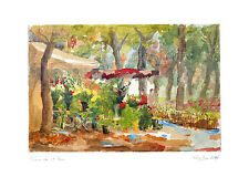 Pierre Jean Llado Poster Kunstdruck Bild Blumenpromenade 50x70 cm Portofrei