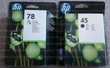 HP 45 HP 78XL 2017/8  BLACK & COLOUR INK CARTRIDGES HIGH-CAPACITY SAME_DAY_POST