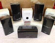 5 Bose Acoustimass Lifestyle Double Cube Speakers [1 Center Channel+4 Surround]