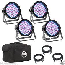 American DJ Mega Flat Pak Plus  dmx dj 4 light w/cable bag rgb +uv led wash