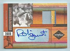 ROBIN YOUNT 2005 LEAF LIMITED LUMBERJACKS 3 COLOR PATCH AUTOGRAPH AUTO /25