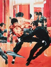NEAL ADAMS rare BRUCE LEE print SIGNED color THE DRAGON STRIKES Cover LAST ONE