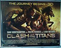 Cinema Poster: CLASH OF THE TITANS 2010 (Main Quad) Sam Worthington Liam Neeson