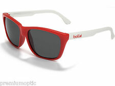 BOLLE Ladies Damone Designer Sunglasses 11289 White Red / TNS Grey