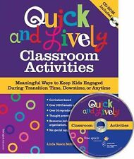 Quick & Lively Classroom Activities Book & CD-ROM: Meaningful Ways to -ExLibrary