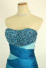 New Authentic Jovani 7524 Blue Homecoming Prom Mini Cocktail Short Dress 4