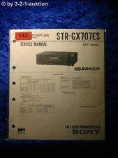 Sony Service Manual STR GX707ES Receiver (#0142)