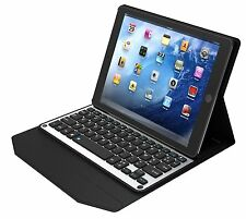 "iPad Pro 9.7"" Bluetooth Aluminium Keyboard Sleep Ultra Slim Case Silver/Black"