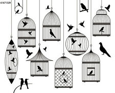 Ceramic  Decal Waterslide Decals Bird Cages 61671329 Free Shipping