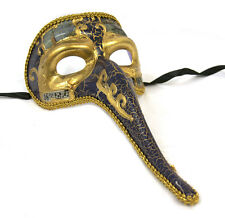 Mens Long Nose Masquerade Mask Music Notes Halloween Black Red Blue Gold Black