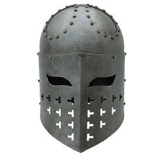 Medieval Fully Functional Spangenhelm 16 Gauge Steel  Battle War Helmet