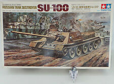 ARMY : RUSSIAN TANK DESTROYER SU-100 MODEL KIT MADE BY TAMIYA - 1/25 SCALE