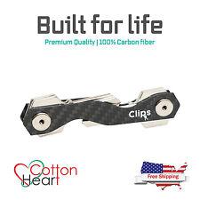 Best quality Smart Carbon fiber Key Holder Keychain Pocket Organizer & gift box