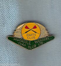 #D176.  NEWCASTLE  WORKERS  CLUB   DARTS  LAPEL BADGE