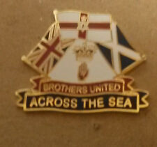 brothers united across the sea enamel badge loyalist ulster scots orange rfc