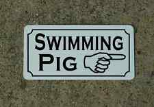 SWIMMING PIG Vintage Style Metal Sign 4 Carnival Circus Fair Freak Show Man Cave
