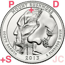 2013 MOUNT RUSHMORE MEMORIAL QUARTER SET P+D+S- STRAIGHT FROM THE MINT!!!