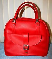 Vintage Red American Tourister Soft Carry On Bag Luggage Suitcase