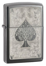Zippo Windproof Black Ice Ace Of Spades Lighter, 28323, New In Box