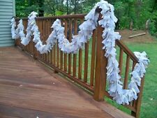 Wedding Natural Burlap Lace Jvory Garland 20ft.- Decoration Rastic chic