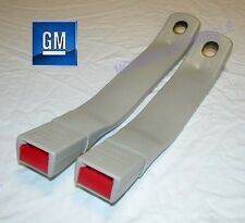 82-92 Camaro Firebird Sand Gray Front Seatbelt Buckles NEW GM PAIR