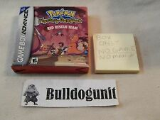 Pokemon Mystery Dungeon Red Rescue Team Game Boy Advance Box NO GAME or MANUAL