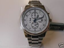 Citizen Eco-Drive Chronograph Grey Dial WR 100m Men's Sport Watch CA0330-59A