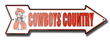 OKLAHOMA STATE COWBOYS COUNTRY EMBOSSED METAL ARROW SIGN  MAN CAVE SPORTSROOM