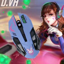 Anime Game Overwatch OW D.VA Cosplay Night Lights Laptop USB Wired Mouse Cool