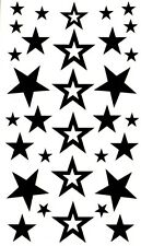 60+ Stars Temporary Tattoos Fake Waterproof  Celebrity Style Black Body Art