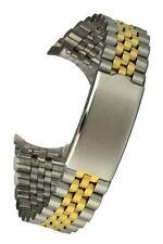 Edelstahluhrarmband bicolor - 5-reihig - 20 mm, Faltschliesse, Uhrband
