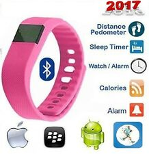 2017 Pink  Fit Watch Bit Excercise Fitness Smart Band Christmas 4 Android iPhone