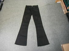 "Ware Denim Flare Jeans Size 6 Leg 31"" Black Faded Ladies Jeans"