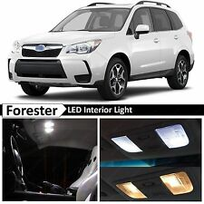 8x White Interior LED Lights Package Kit for 2015-2017 Subaru Forester + TOOL