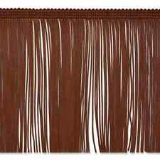 "By the Yard 6"" Brown Chainette Fabric Fringe Lampshade Lamp Costume Trim"