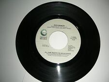 Don Henley ( Eagles ) - All She Wants To Do Is Dance 45  Geffen Records  NM 1984