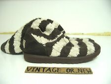 Ugg Australia Classic Tall Chocolate Cream Striped Cable Knit Boots 5822 sz 9