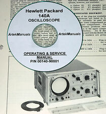 HP 140A OSCILLOSCOPE SERVICE & OPERATING  MANUAL