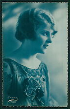 Deco Pretty Lady Glamour Fantasy Tinted original vintage old 1920 photo postcard
