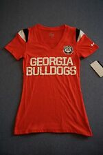 NEW NIKE WOMENS GEORGIA BULLDOGS RED SHORT SLEEVE TSHIRT SIZE EXTRA SMALL